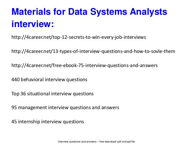 interview questions for data analyst position - Hizir