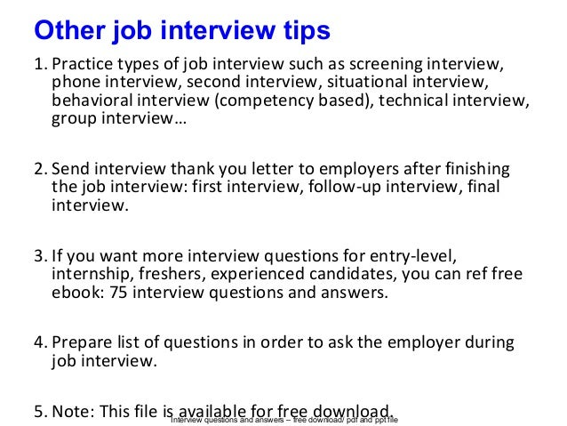 prepare for second interview
