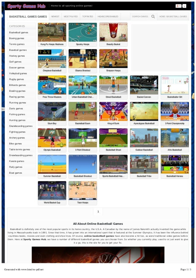 Sports Games To Play Online 95