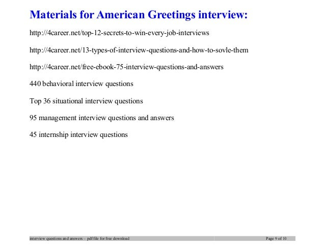 American greetings interview questions and answers 9 materials for american greetings m4hsunfo