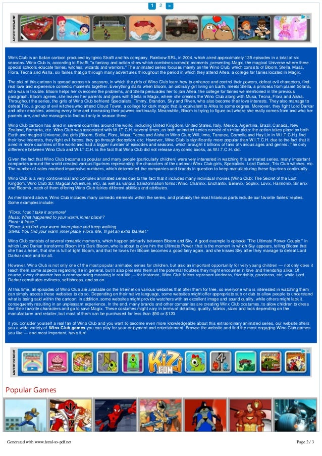 Winx Club Games - Hero Games World   Be a Hero