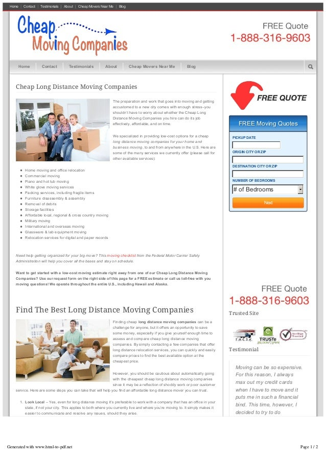 Home Contact Testimonials About CheapMoversNearMe Blog Cheap Long Distance Moving Companies Thepreparationandworkth...