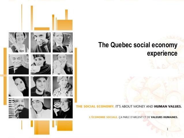 1The Quebec social economyexperience