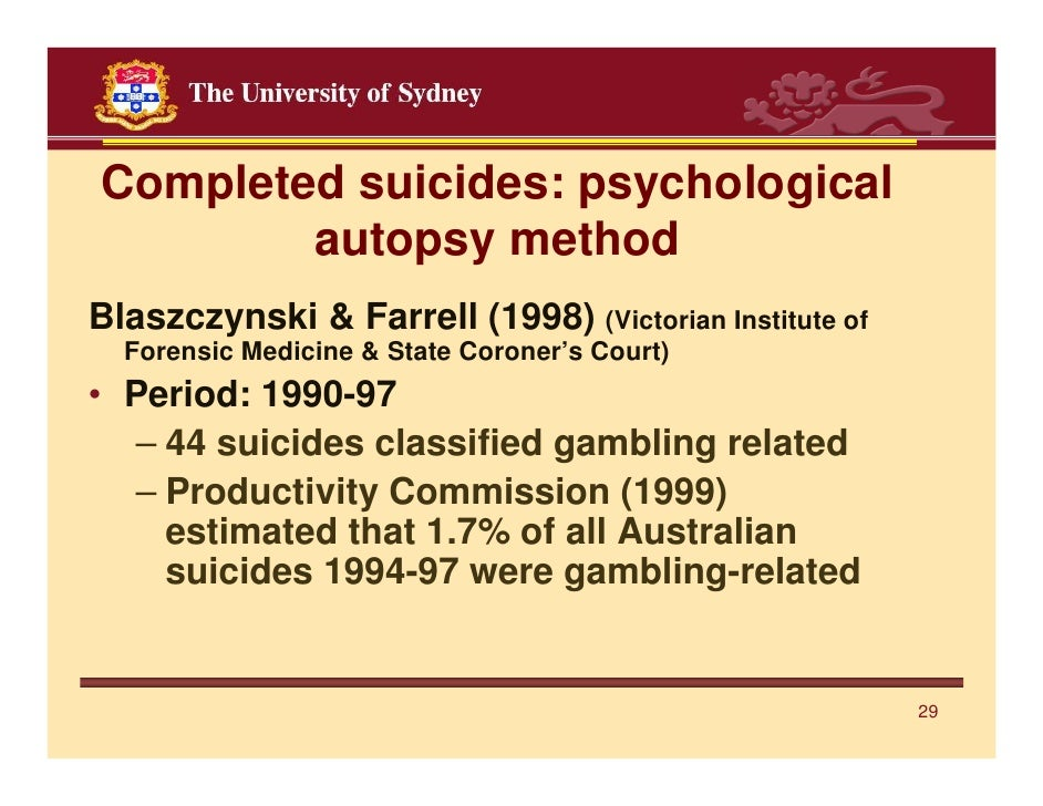 Victorian study gambling suicide concert schedule foxwoods casino