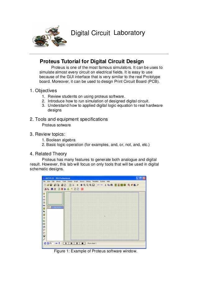 File 1 Proteus Tutorial For Digital Circuit Design
