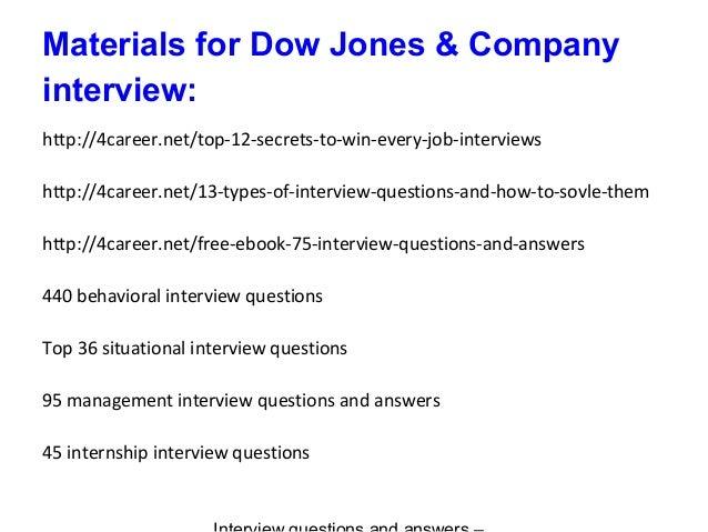 Dow Jones Internship Cover Letter