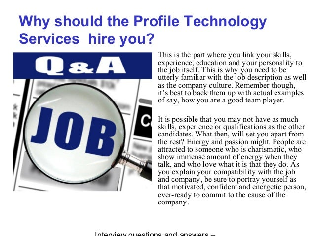 Profile Technology Services interview questions and answers