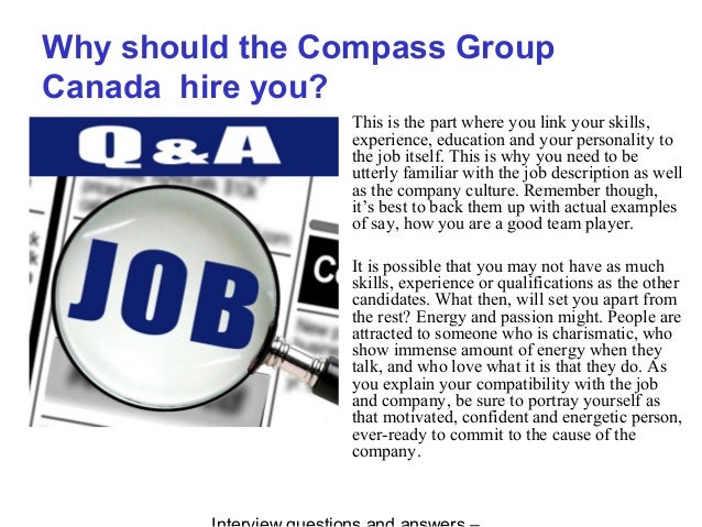 Compass Group Canada interview questions and answers