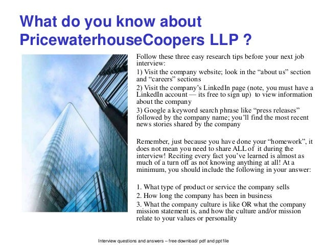 pwc interview questions and answers pdf