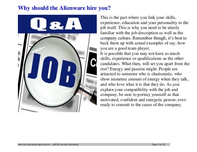 ... 5. Interview Questions ...