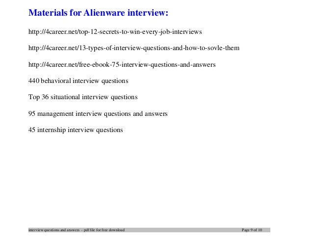 9. Interview Questions ...
