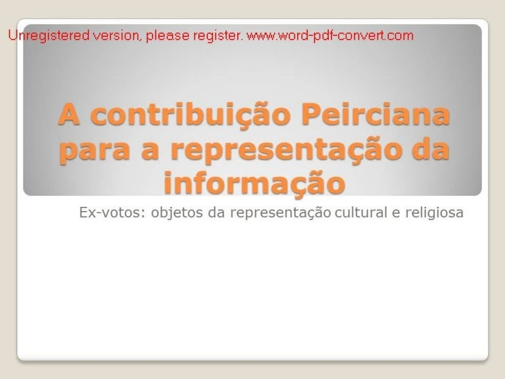 File2 a contribuição peirciana para a representação da informação