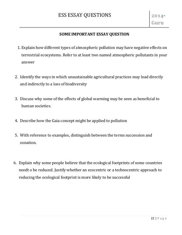 file ess important essay question asnwer 22 ess essay questions
