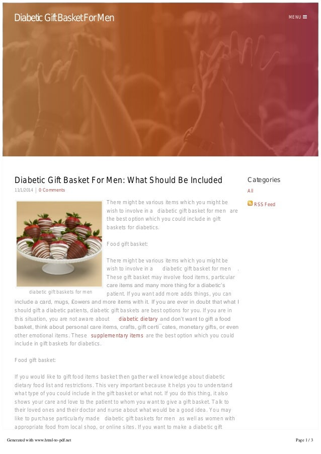 Diabetic Gift Basket For Men MENU Categories All RSS Feed Diabetic Gift Basket For Men: ...