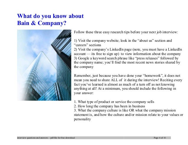 bain interview case study ebook