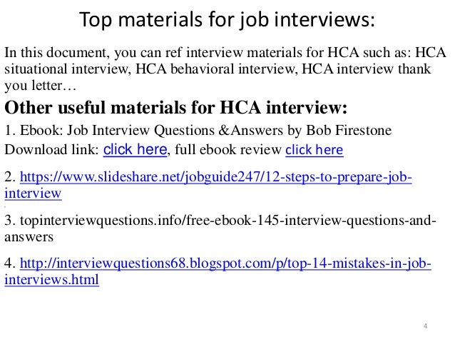 Top 38 hca interview questions and answers pdf top materials fandeluxe Choice Image