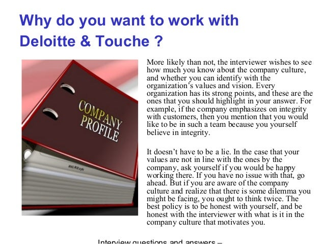 deloitte  u0026 touche vinterview questions and answers