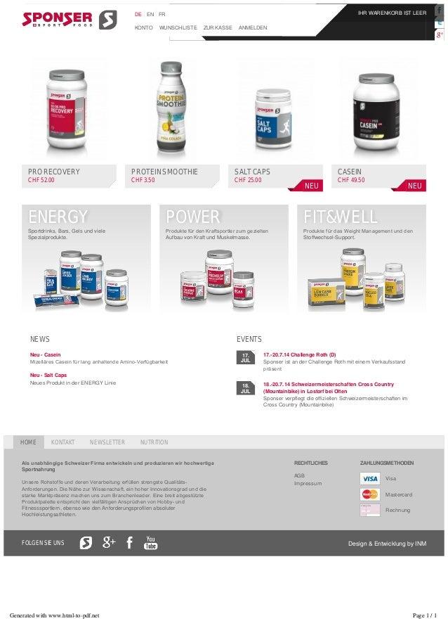 17. JUL 18. JUL NEWS Neu - Casein MizelläresCaseinfürlanganhaltendeAminoVerfügbarkeit Neu - Salt Caps Neues Produkt ...