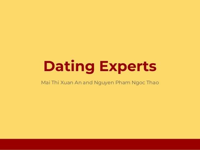 Dating Experts Mai Thi Xuan An and Nguyen Pham Ngoc Thao