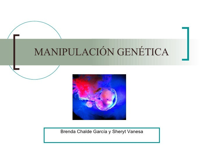 MANIPULACIÓN GENÉTICA Brenda Chalde García y Sheryt Vanesa