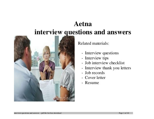 Aetna interview questions and answers