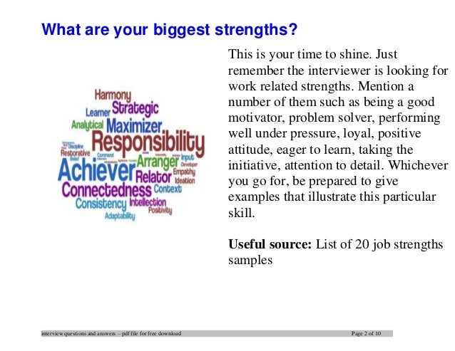 Awesome ... 2. Interview Questions ...