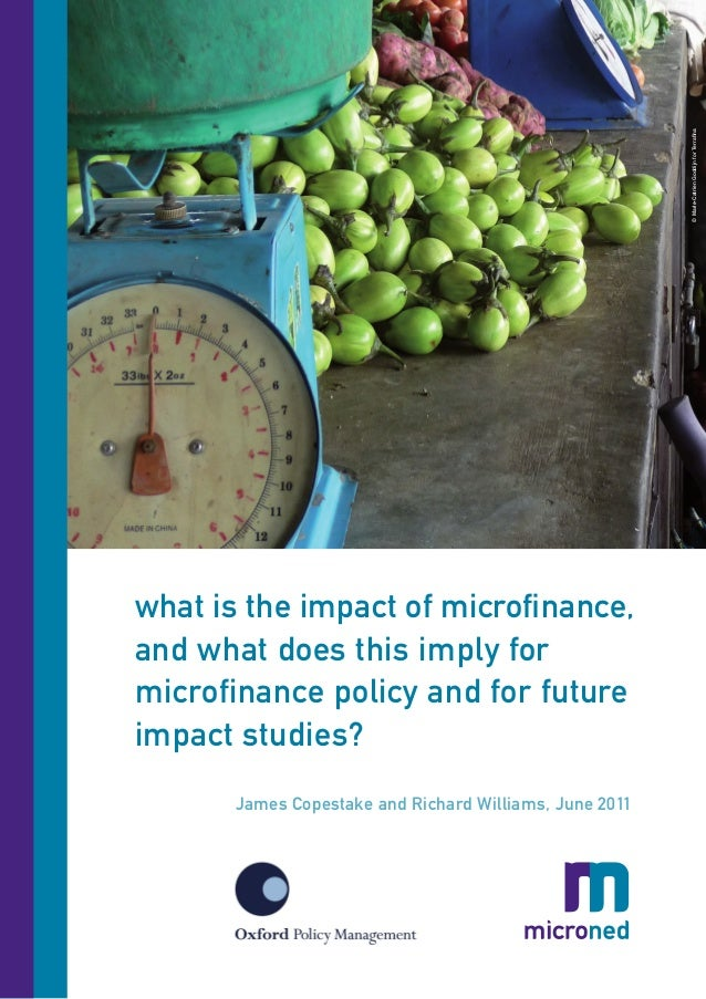 © Marie-Catrien Goddijn for Terrafinawhat is the impact of microfinance,and what does this imply formicrofinance policy an...
