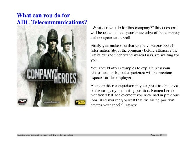 ADC Telecommunications interview questions and answers