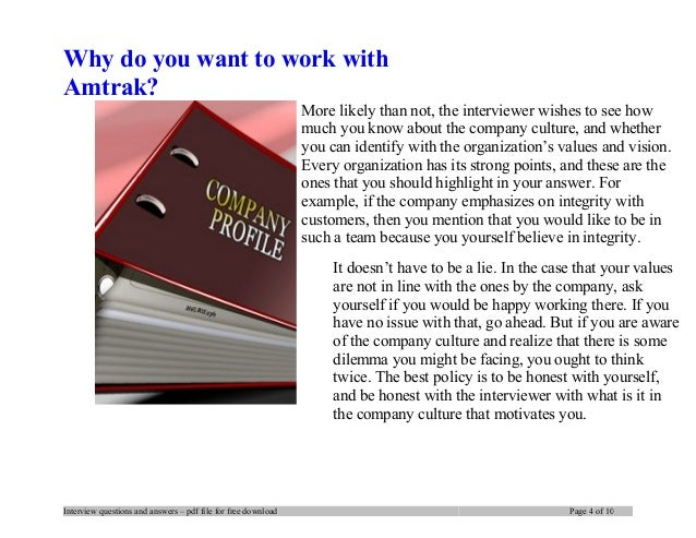 personality interview questions and answers pdf