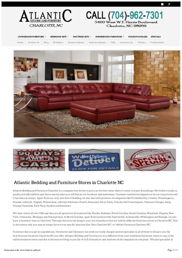 ATLANTIC BEDDING AND FURNITURE CHARLOTTE NC CALL TODAY (704) 962 7301   Online Furniture Stores ...