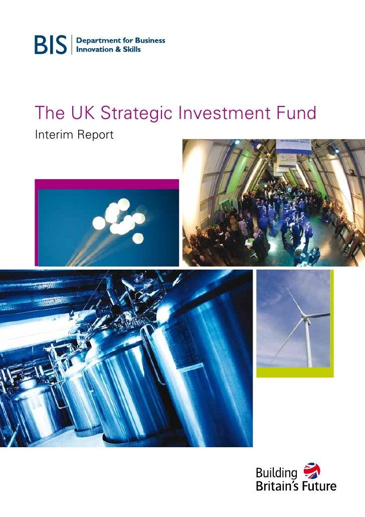 The UK Strategic Investment Fund Interim Report
