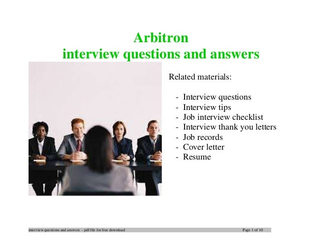 interview questions and answers – pdf file for free download Page 1 of 10 Arbitron interview questions and answers Related...