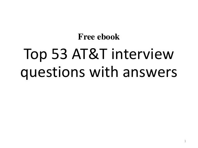 53 AT&T interview questions and answers pdf