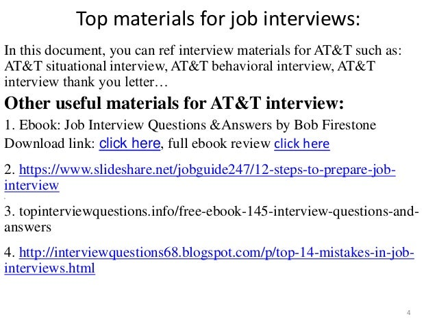 53 At T Interview Questions And Answers Pdf