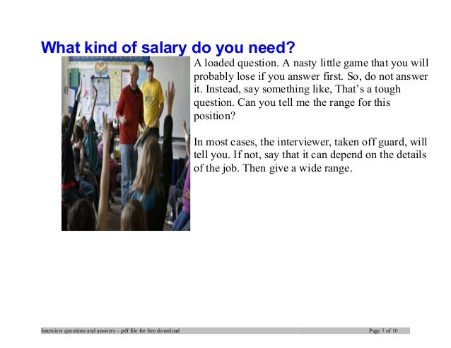interview questions and answers pdf file for free download page 6 of 10 7