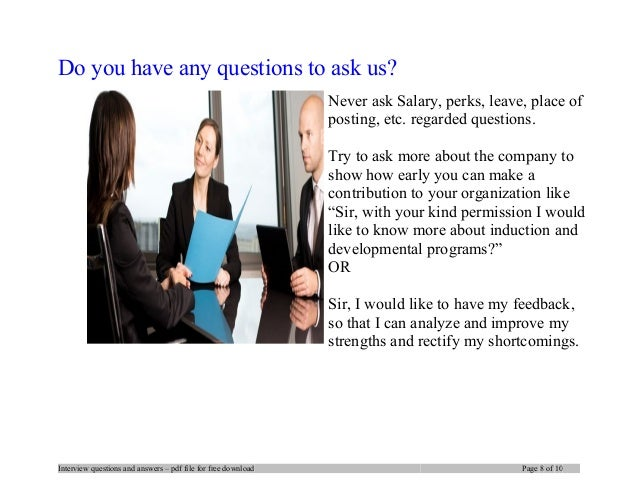 interview questions and answers pdf file for free download page 7 of 10 8