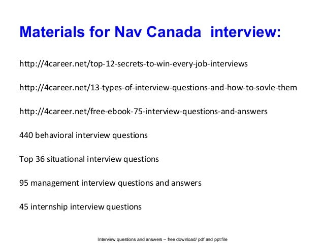 Nav Canada Interview Questions And Answers