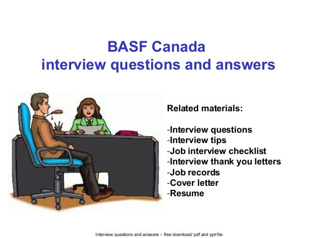 BASF Canada interview questions and answers