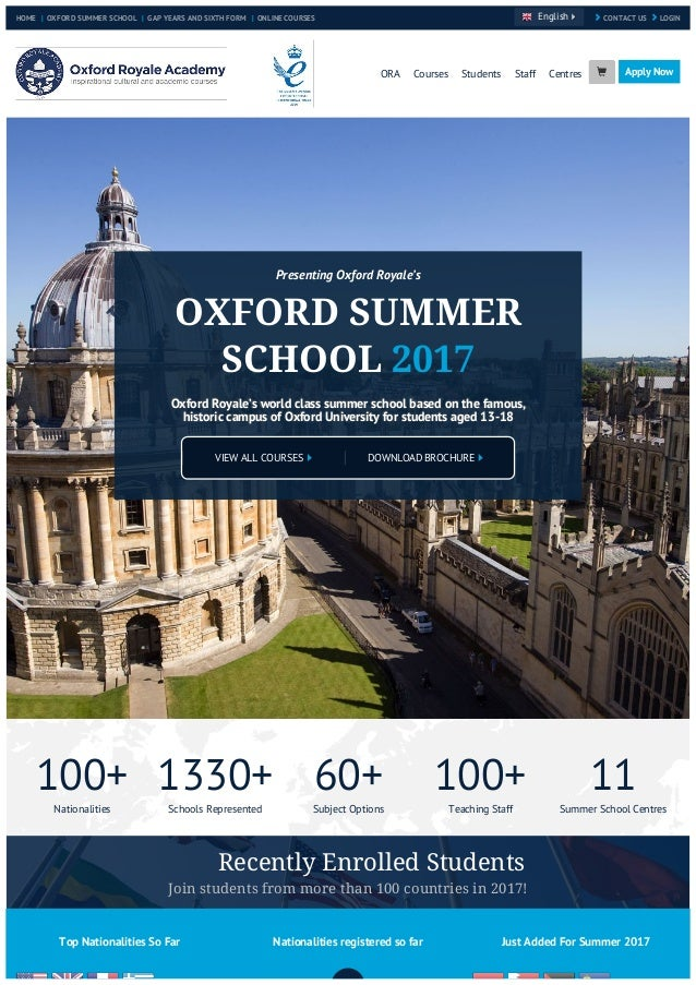 Oxford Summer School 2017 with Oxford Royale Academy