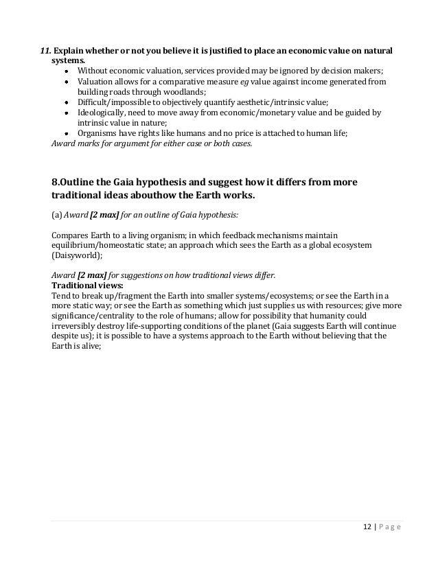 Important IB ESS Essay Questions