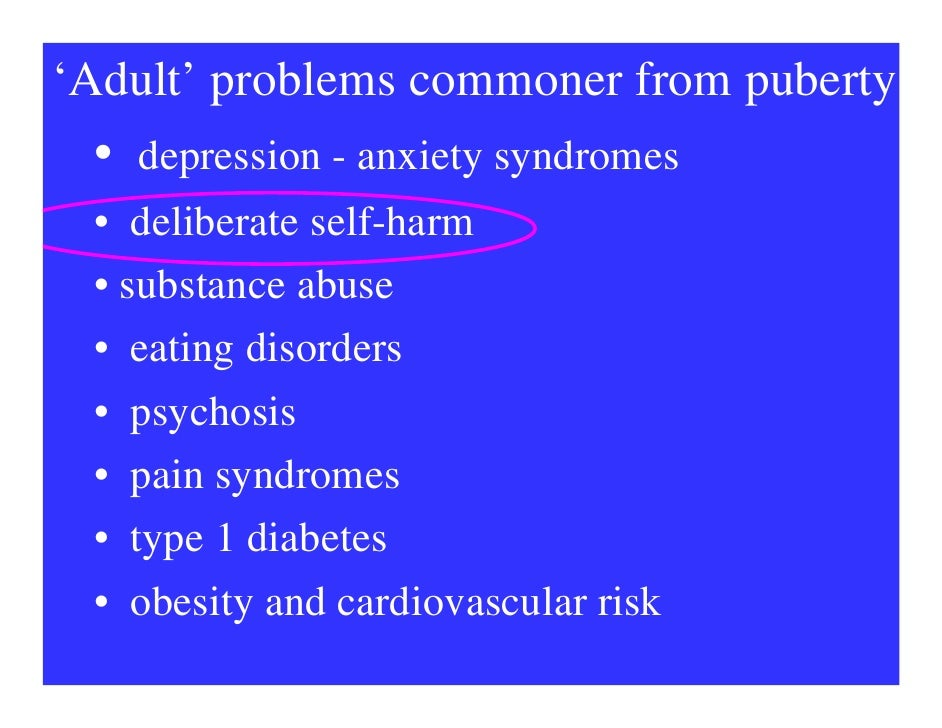 self harm in adolescents Help and for young adults, parents, family and friends who must deal with the difficult subject self harm d re.