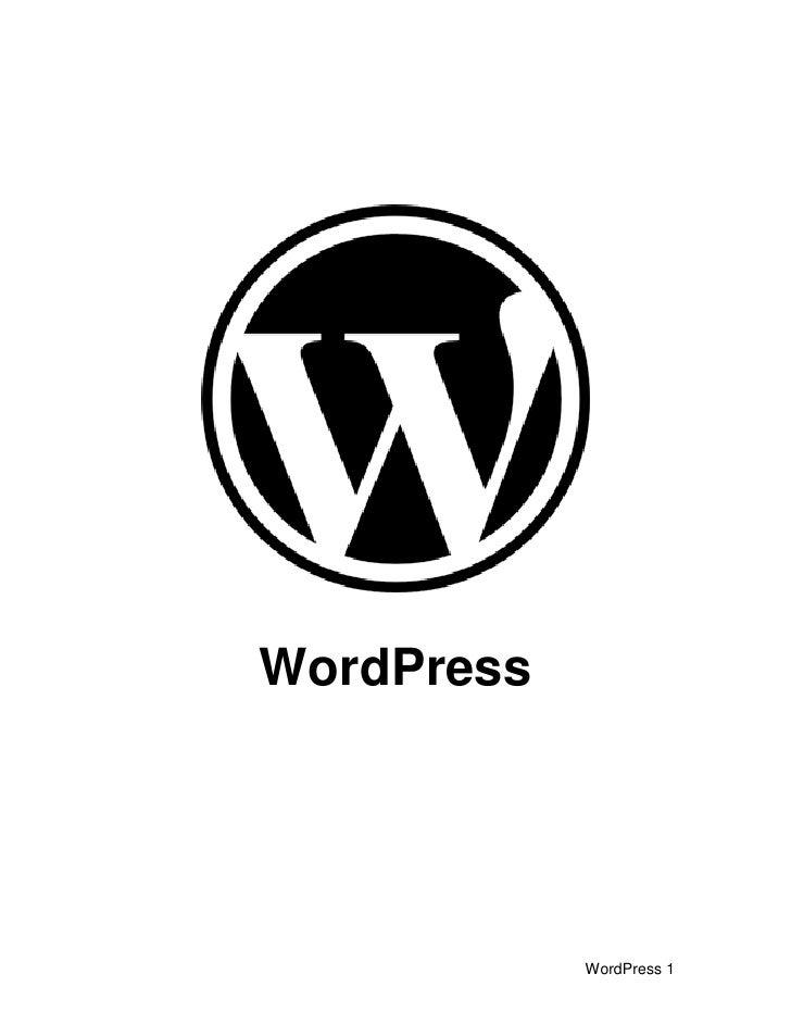 sample blog create in wordPress
