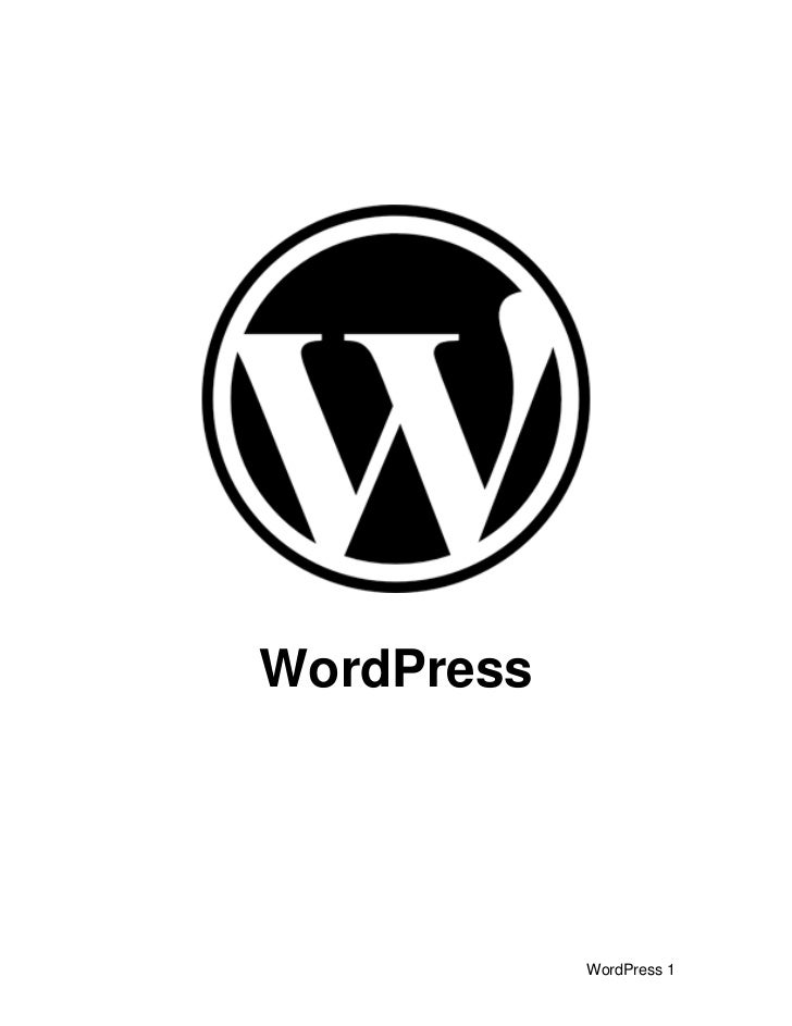 WordPress                 WordPress 1