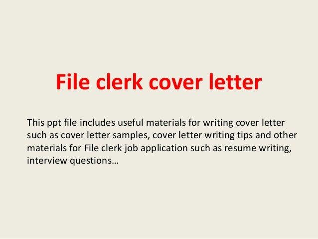 file clerk cover letter - Kozen.jasonkellyphoto.co