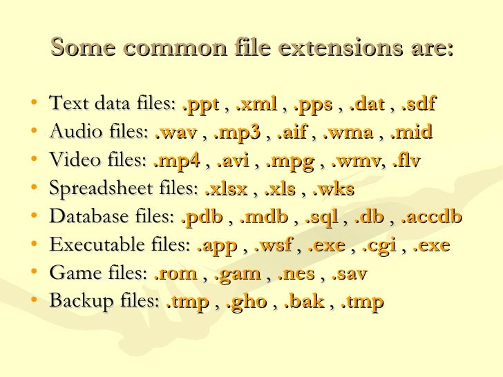 how to change file extention type