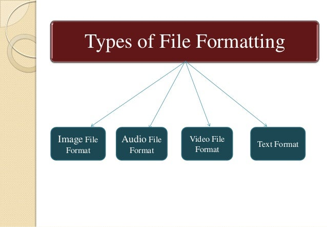 File formats and its types Slide 3