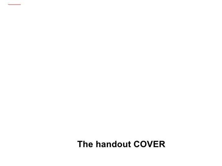 The handout COVER