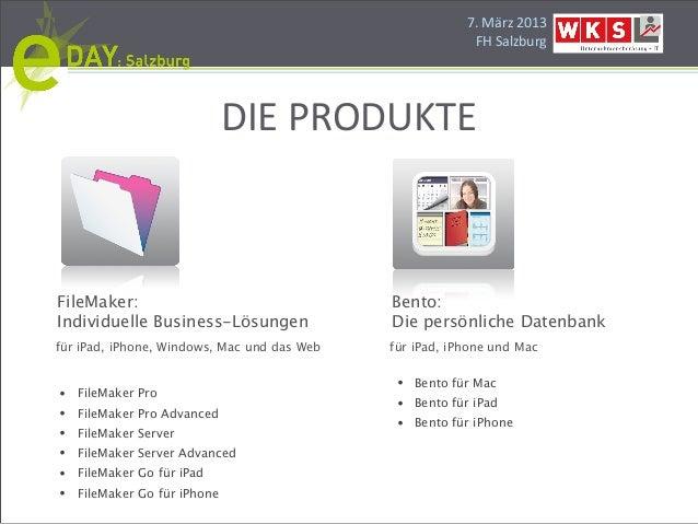 Die Entwicklung individueller Business-Lösungen mit FileMaker Slide 3