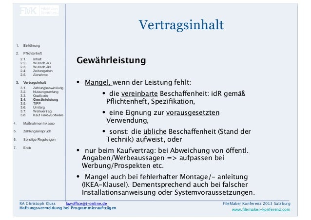 Fmk 2013 Filemaker Recht Christoph Kluss