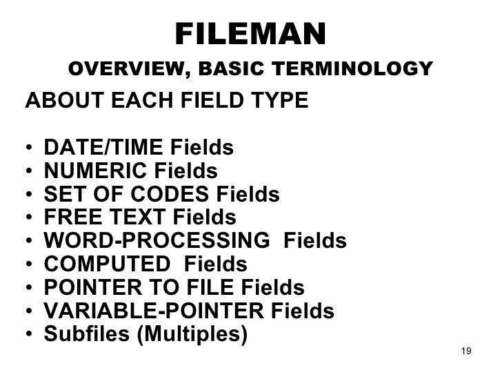FileMan Training Part 1